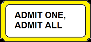Social Equity - Admit one, admit all
