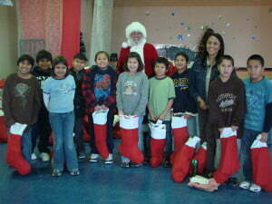 Pine Ridge youth get a visit from Santa