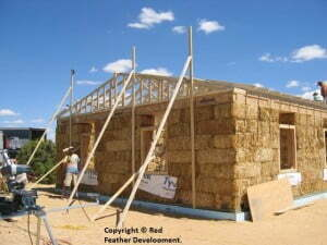 Straw bale house on the Hopi Reservation