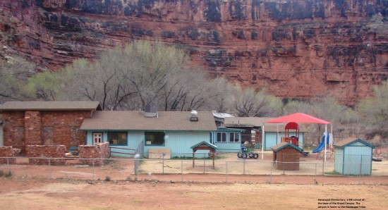 Havasupai Elementary, a BIE school located the base of the Grand Canyon -- home to the Havasupai Tribe.
