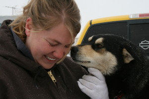 Lola of Oglala Pet Project after a winter rescue